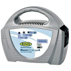 Ring Battery Charger 12-Volt 4-Amp  with LED Charge Indicators