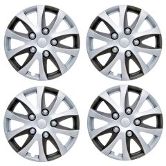 """Enbossa Two-Tone Wheel Trims Set of 4  Available in 14"""" or 15'' Sizes"""