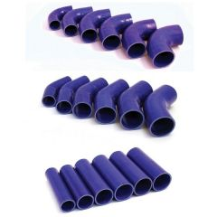 Blue Silicone Hoses Straights,  45 & 90 Degree bends
