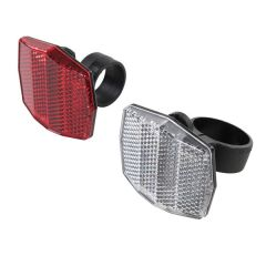 Bicycle Reflector Set 2pcs Red Rear & Front Clear