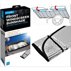Reflective Heat & Sun Screen Silver 95cm X 170cm Foldable