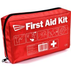 Large First Aid Kit An essential item for your car, caravan, home or when holiday This first aid kit contains everything you need to treat cuts, grazes, blisters and more It also includes simple first aid advice