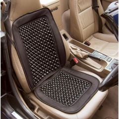 Universal Beaded Seat Cover with Wooded Beads & Mesh Top