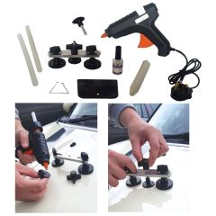 Dent Repair & Correction Tool Kit Including: Glue Gun and Pullers