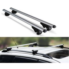 Roof Rail Bars  >120cm<  Aluminium Twin Pack Bars with Locks