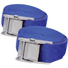 Cam Buckled Tie Down Straps Twin Pack 2.5m X 25mm