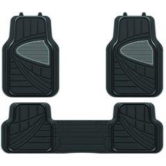 Car 4X4 Mats 3-Piece Set Full Double Width Rear + 2 Front