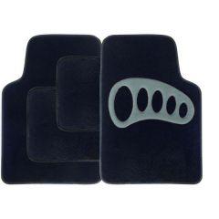 GREY Heel Pad Carpet Car Mats 4-Piece Set
