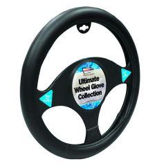 Car Steering Wheel  Glove/ Cover Black Fine Textured Grip Style